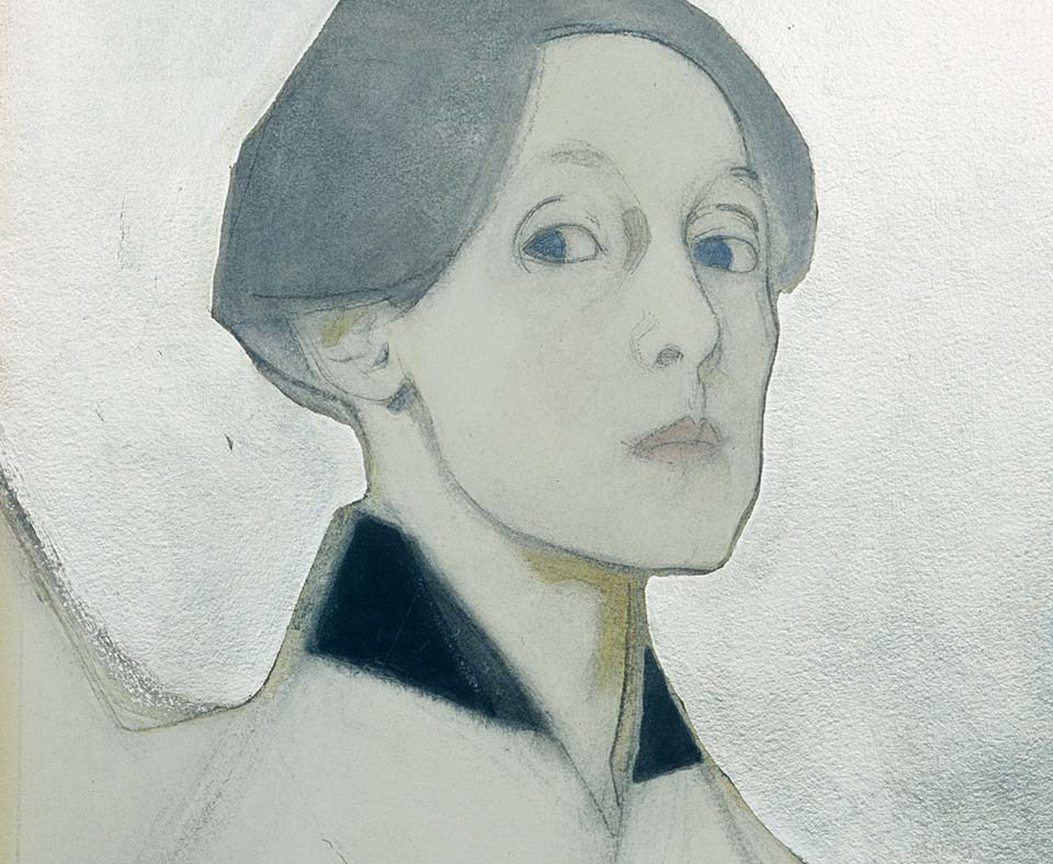 Helene Schjerfbeck, Self-Portrait with Silver Background, 1915
